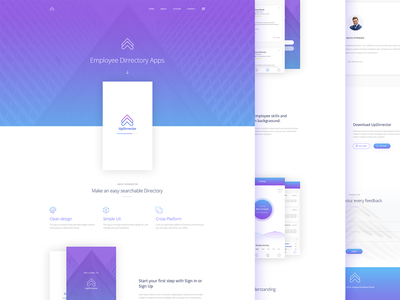 UpDirrector App Landing Page
