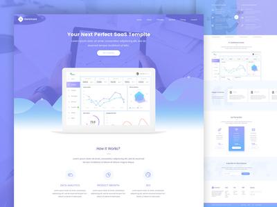 DataSaaS Software Landing Page (SaaS)