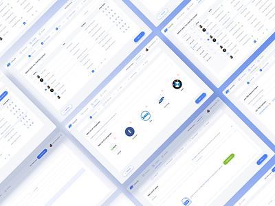 InboxIQ Lead Generation Web App lead generation web app dashboard table list steps progress bar company list tab uiux