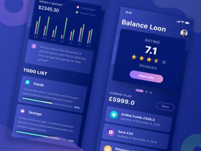 Finance App (Dark Version)