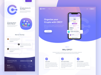 CRCY App Landing Page