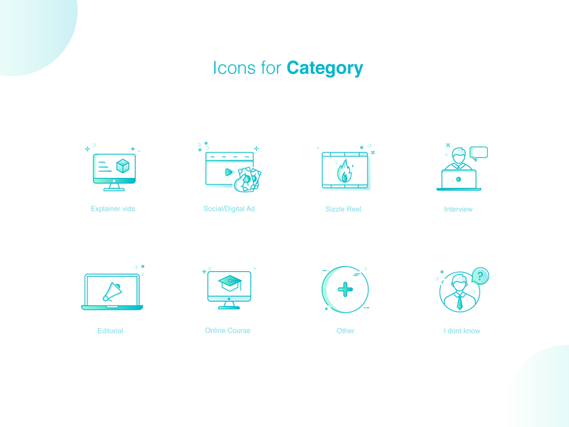 Icons for saas marketplace.