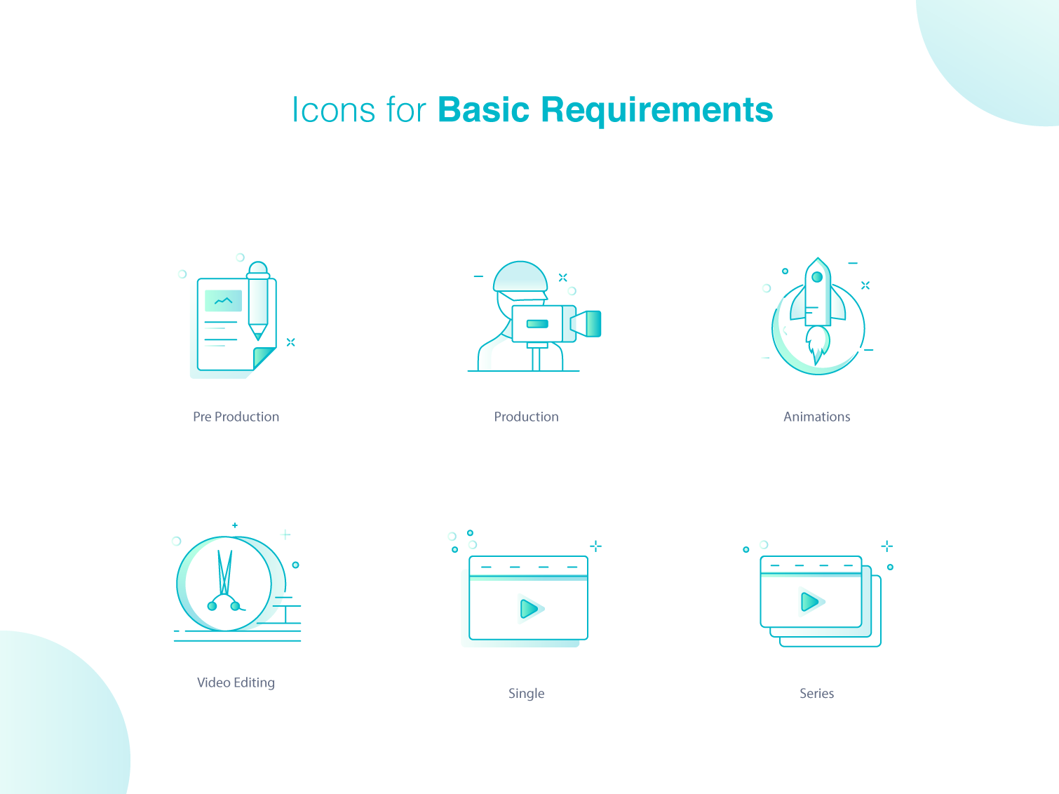 Icons for saas marketplace. 2 icon artwork line icons icon bundle basic icon video editing animation icon video production ico video icon illustration line icon gradient icon