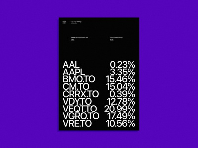 Investment Portfolio stock market purple design typography poster typography poster a day market trading invest stocks poster design poster