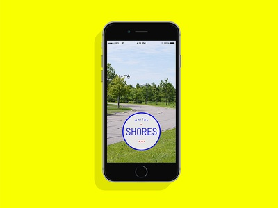Whitby Shores Snapchat Filter badge. filter logo design ux ui snapchat mobile
