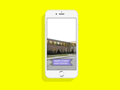 Henry Street High School Snapchat Filter high school canada flag logo app mobile filter snapchat ux ui