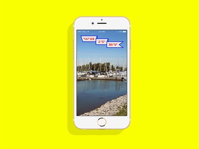 Town of Whitby Snapchat Filter canada flag logo app mobile filter snapchat ux ui
