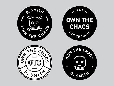 Unused Logo Badges social youtube chaos logo badge bitcoin pennystocks otc crypto stocks trading