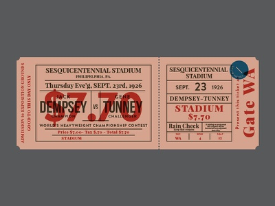 Old Ticket print old vector vintage boxing sports ticket