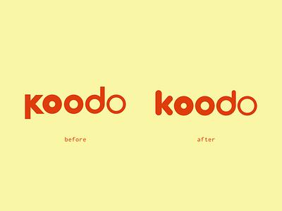 Koodo Mobile Logo Cleanup logo design rebrand koodo phone mobile branding logo