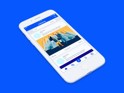 Linked In — Updated app UI and logo concept design mobile concept logo branding interface web mockup iphone ux app linked in ui