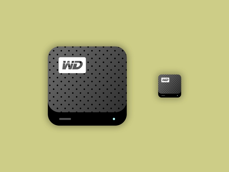 WD Hard Drive Icon web design app illustration ui icon iconography icon western digital hard drive wd