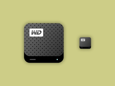 WD Hard Drive Icon web design app illustration ui icon iconography icon western digital hard drive wd