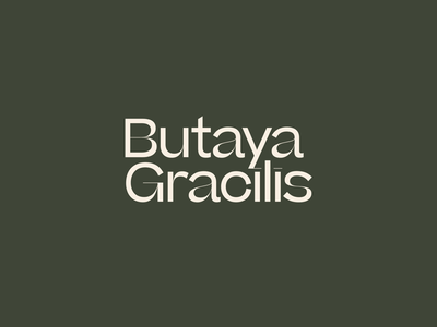 Butaya Gracilis simple elegant classy brutalism letters future fonts color logo logotype typography sharp type