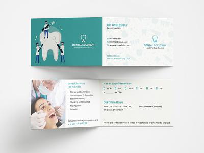 Dental Folded Business Card folded businesscard folded doctor dentist dental clinic dental company clinic businesscard bifold
