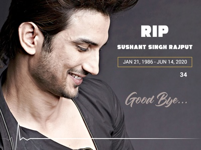 Sushant Singh Rajput- RIP superstar sadnews rip restinpeace celebrity bollywood