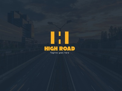 HIGH ROAD Logo roads road logo road negative space logo negative space logo high road logo high road h letter logo h