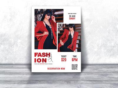 FASHION Flyer photography model flyer fashions fashion week fashion show fashion event creative a4 flyer