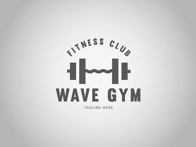 WAVE GYM Logo wave trainer gym fitness exercise equipment dumbbell bodybuilding bodybuilder aerobic