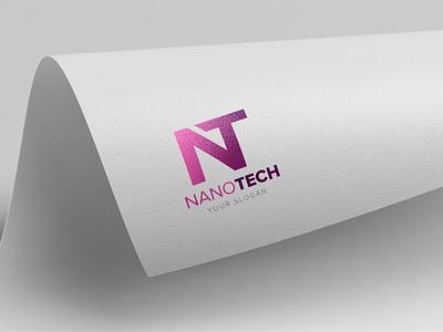 NANOTECH Logo technology tech logo nt logo nt letter nanotechnology nano letter logo corporate logo business brand
