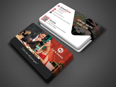Eat & Gossip Business Card