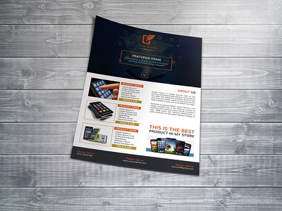 Product Promotion A4 Flyer a4 flyer ad cell phone computer electronics flyer template gadgets limited offer product list product promotion shop technology