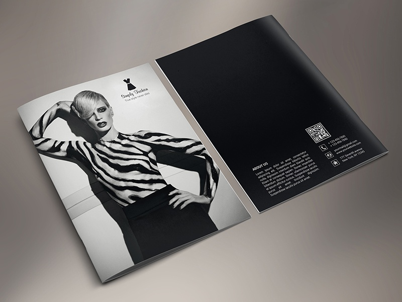 Simply Fashion Portrait Brochure  18 Pages simply fashion product catalogue portrait brochure multipurpose modern fashion design fashion collection fashion catalogue fashion brochure dresses catalog 18 pages brochure