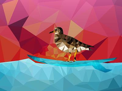 Nam Nam (2/3) birdy nam nam nam nam threadless surfbird surf surfing bird sunset waves