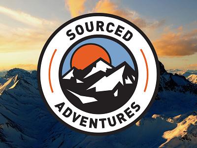 Sourced Adventures sourced adventures logo adventure mountains mountain winter snowboarding skiing
