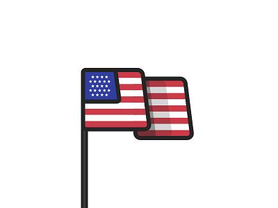 Happy Birthday, America! sketch flag usa america