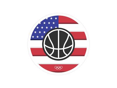 USA Basketball olympics sport usa basketball sticker sticker mule