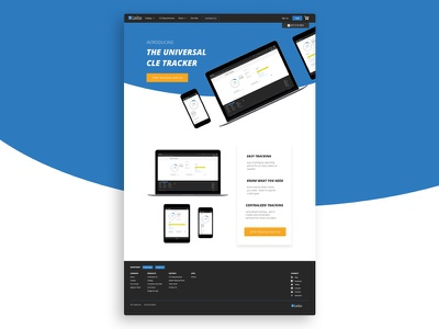 Universal CLE Tracker Landing Page lowprofile lawline cle landing page