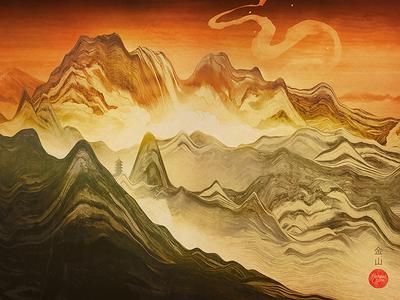 Golden Mountain (Wallpaper)