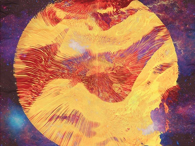 Metaphysics no3 3d abstract art lines space psychadelic color artwork cinema 4d render print psychedelic