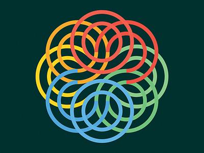 Colors color lines rgb monogram vector logo