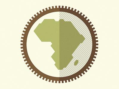 Africa africa continent outdoor compass monogram logo branding