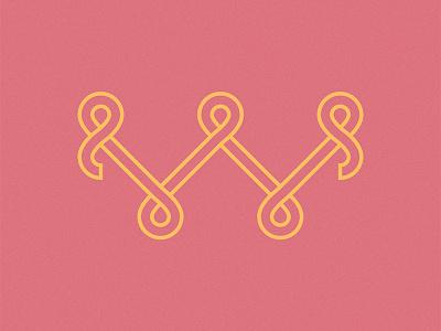 W logo branding monogram w lines type typography