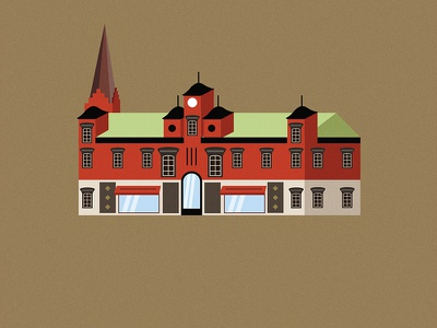 Malmö City malmö city sweden house malmo scandinavia europe architecture vector illustration