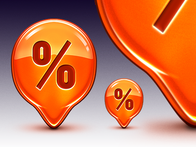Discount Icon icon icons discount illustration ball reflection glossy