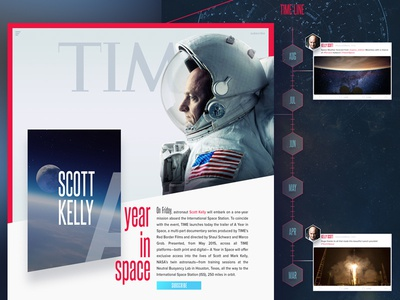 TIME Magazine Reimagined - Landing Page Concept