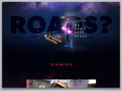 Back To The Future II - Landing Page Design Concept