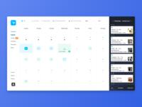 Pet Pro Booking Calendar - Month View