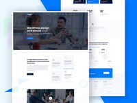 one page template designs on dribbble