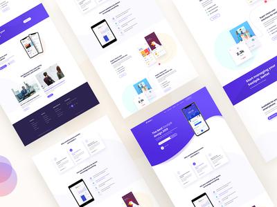 SaaSpik, App Landing page Concept