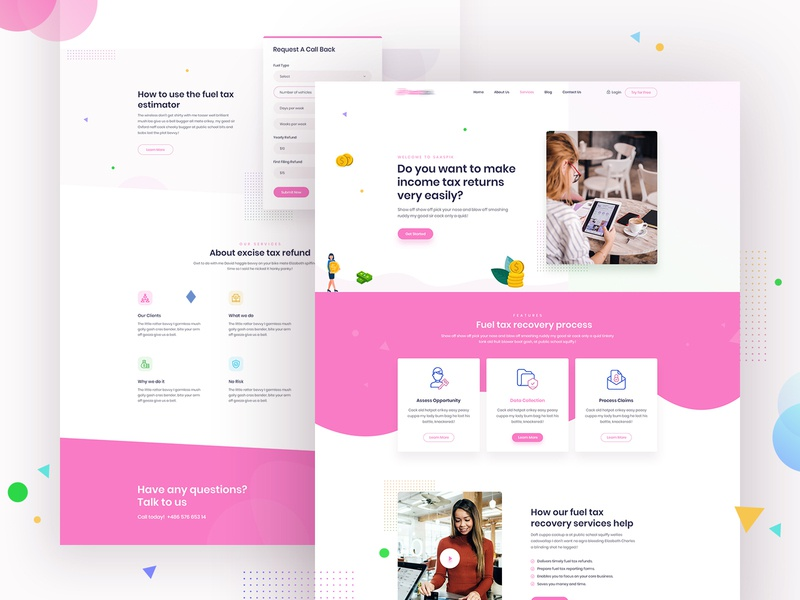 Tax Saver Landing Page tax software tax savings trendy design tax firm tax website white light taxes technology decision landing creative typography clean agency ux illustration web design tax