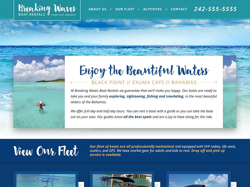 Boat Rental Website by Christian Magill | Dribbble | Dribbble