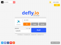 Defly.io UI concept