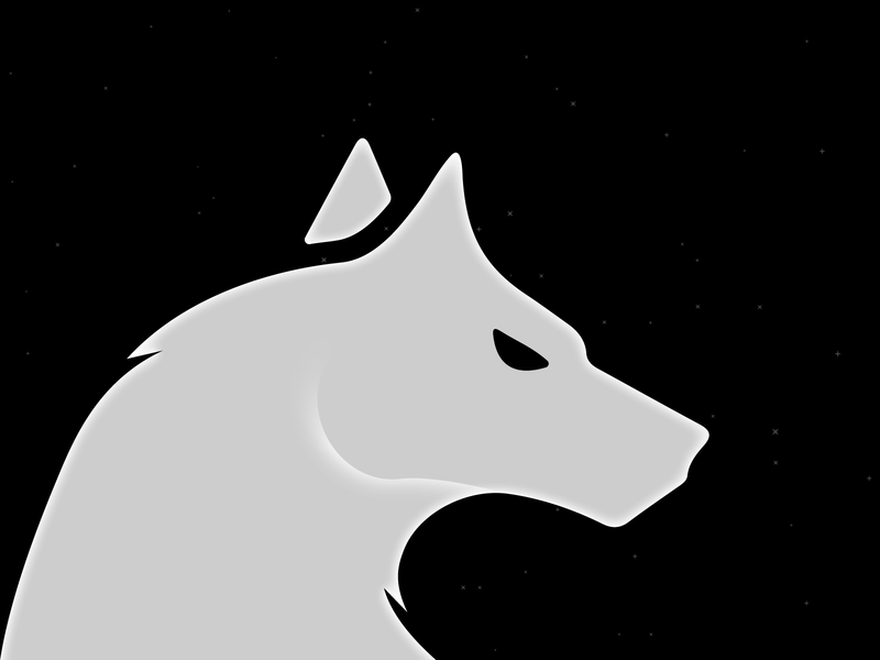 Wolf illustrator design vector illustration