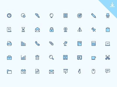 40 Office Icons icon free