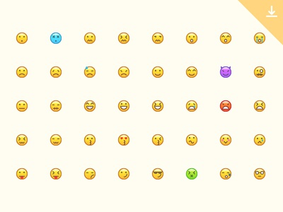 40 Emotion Icons icon free